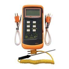 Thermocouplethermometer Digital 2 Sensors Amp Probe Measurement Test Meters