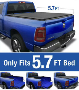 Tonneau Box Covers Roll Up fits 2019 and Up Dodge Ram 5.7 FT Truck Bed Exterior