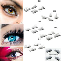 Magnetic False Eyelashes Eye Lashes Design Soft Real Cross Messy Handmade