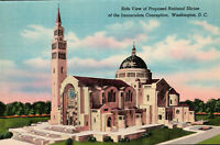 Washington, D.C.  PROPOSED National Shrine of the Immaculate Conception Postcard