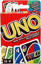 Mattel UNO Family Card Game Latest Version With Customizable Wild Cards