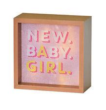 Light Box/Lightbox ~ Freestanding ~ LED Lights ~ NEW BABY GIRL
