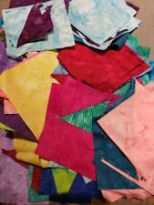 New listing Quilt Sew Fabric lot assorted Batik scraps 11 oz of fabric