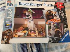 Ravensburger 9413 The Secret Life of Pets Jigsaw Puzzles - 3 x 49 Pieces EUC