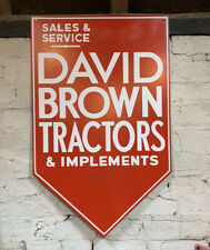 David Brown Tractor 1940s Reproduction Sign