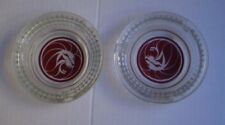 Set Of Two Classic Mgm Red Lion Ashtrays Four And A Half Inches Wide