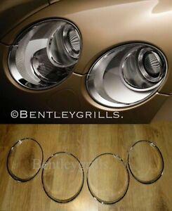 Bentley GT GTC Chrome Head Light Trims, Surrounds