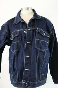 Vintage 90's South Pole Authentic Collection Blue Denim Jean Jacket Sz L Hip Hop