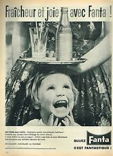 P- Publicité Advertising 1962 Boisson soda Fanta