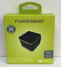 PureGear Extreme USB Wall Charger 60587PG Black Color Retail Package 75% Faster