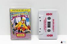 Sinclair ZX Spectrum 128k 48k gioco-skate Crazy-completamente in guscio OVP BOXED