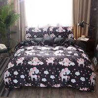 3D Balloon Unicorn Kids Bedding Set Duvet Cover Pillowcase Comforter/Quilt Cover