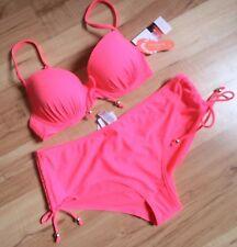 Stylish Quality Lined/Padded Bikini Set with Shorts Bottoms 14/32C BNWT