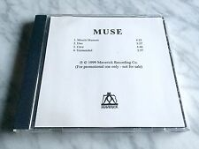 MUSE Muscle Museum CD 1999 Maverick EP Advance PROMO 4-TRACK Disc EXTREMELY RARE
