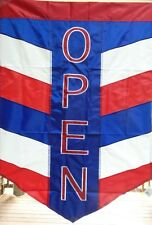 """Open Chevron Standard Flag, Readable on both sides, 28"""" x 40"""" Patriotic"""
