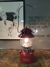 Coleman 1976 Lantern Red 200A with Globe  Camping Dated 6/76 Tested Works