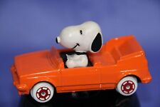 Peanuts Snoopy World Class Sports Car Series Die Cast Orange Convertible