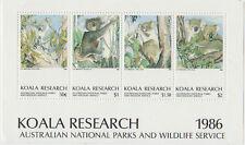 Koala Research Australian 1986 National Parks & Wildlife mini sheet