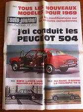 >AUTO-JOURNAL n°461 du 09/1968; Les peugeot 504/ BMW 2500/ Triumph TR5