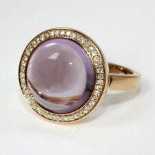 Eleganter Ring mit echtem Amethyst und Brillant 0,20 Carat, 585 Rotgold