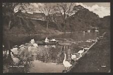 Kent. Hythe. Boating Among the Swans on the Canal at Hythe. 1925 Posted Postcard