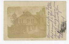 Torrington CT House RPPC Antique Victorian Home Photo—Litchfield County 1907