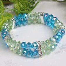 Glass Alloy Cuff Fashion Bracelets