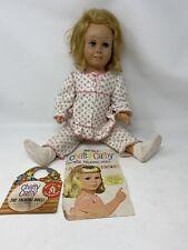 "Vtg Orig 1960 Mattel Chatty Cathy Talking Doll MUTE Blonde Blue Eyes 20"" W/coat"