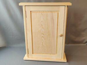 **Handmade Wooden Pine Wall Cabinet - Bathroom Kitchen Shelving Furniture**