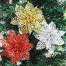 5/10/20Pcs Glitter Wedding Decor Hollow Simulation Christmas Flower Xmas Tree