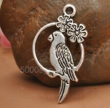 15pcs Tibetan silver charm parrot pendant Jewelry Findings 28x15mm A3243