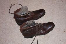 New Look dark brown leather lace up ankle boots - size 8