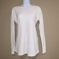 A Pea in the Pod Women's XS Ivory Tie Back Front Long Sleeve Maternity Top