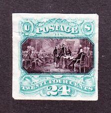 US PR120P3 24c Declaration of Independence Proof on India Paper SCV $140