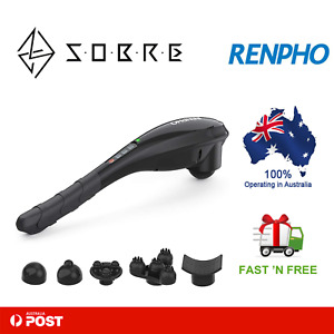 RENPHO Rechargeable Hand Held Deep Massager for Muscles Cordless Body Massage AU