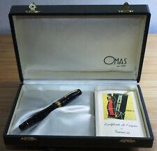 Omas Extra Paragon London Smoke Grey Celluloid Fountain Pen Vermeil Trim 18K Nib