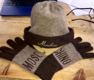 Vintage Lambswool Angora Hat & Gloves Moschino