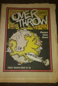OVERTHROW july 1984 yippie! Underground Counterculture News Protest Culture weed