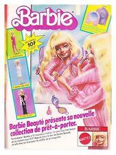 1982 DOCUMENT(ref Cim  1554) PUB POUPéE BARBIE PRET A PORTER  1page