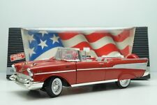 ERTL AMERICAN MUSCLE 1:18 DIE CAST METAL 1957 CHEVY BEL AIR ROSSO ART 7490