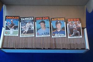 1986 topps baseball complete set (792 cards) nm/mint free shipping