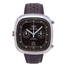 HEUER SILVERSTONE VINTAGE BORDEAUX 110.313 MENS AUTOMATIC WATCH 40MM