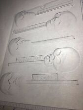 SKULL LOLLIPOP CLEAR PLASTIC CHOCOLATE CANDY MOLD H156