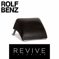Rolf Benz 322 Leder Hocker Anthrazit Grau #14123