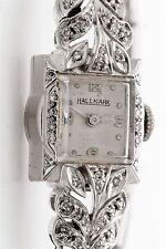 Vintage 1950s Hallmark .50ct VS H Diamond 14k White Gold Ladies Watch WTY