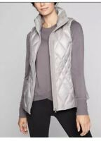 ATHLETA  $148 NEW SILVERY GREY  RESPONSIBLE DOWN  VEST  SZ 1X Plus