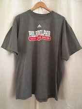 Adidas Philadelphia 76ers Basketball Grey T-Shirts S/S 100% Cotton Men's Sz XL