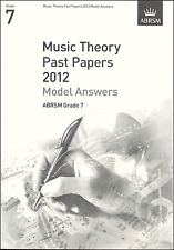 ABRSM Past Theory Of Music Exam Paper 2012 Grade 7 Model Answers Sheet Music