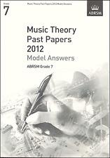 ABRSM passato teoria della musica Libro dell'esame 2012 grado 7 modello risposte SPARTITI MUSICALI