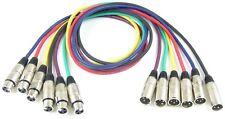 1 Set PROFI ADAM HALL Mikrofonkabel 1 m XLR 3 pol in 6 Farben DMX Mikrofon Kabel